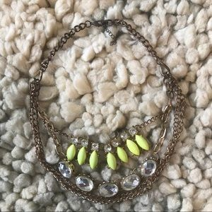 Layered gold statement necklace